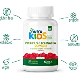 Propolis and Echinacea Gummies By Nutra Kids - Strawberry and Orange Flavor - 120 Count - Daily Organic Immunity Support for Kids GLUTEN FREE - VEGAN - KOSHER - HALAL - NON GMO - PROPOLIS SUPPLEMENTS