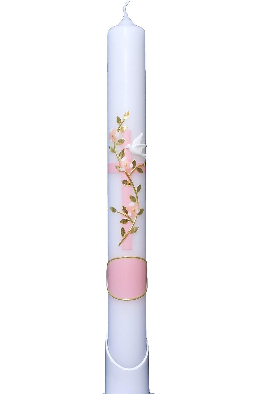 Taufkerze Sommer rosa 25x7cm ist ein Unikat. Bei uns bekommen sie keine Massenware wird NUR auf Kundenwunsch f/ür Sie gefertigt Jede Kerze f/ür sich
