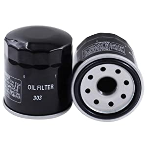 303 Oil Filter-2 Pack Motorcycle Oil Filter - for YAMAHA/POLARIS/HONDA/KAWASAKI Fits Multiple Makes and Models.
