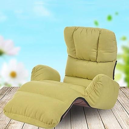 CQSMOO Sofá Perezoso Lazy Linen Sofa Chair Respaldo del Dormitorio Sofá Silla Flotador Ventana Silla Single