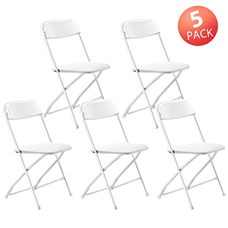 Prime Kealive Folding Chair 5 Pack Fold Chair 330 Lbs Weight Capacity For Events Premium Lifetime Fold Up Chair Portable 18 L X 18 W X 31 H White Ocoug Best Dining Table And Chair Ideas Images Ocougorg