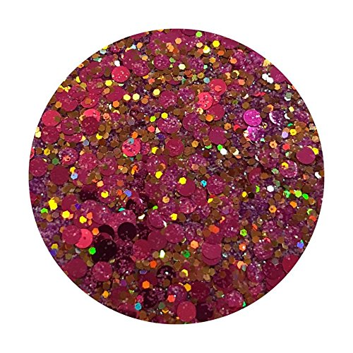 Glitter Pot - ( 508 Popping Candy ) Chunky And Fine Mix Festival Glitter Shape Glitter Eyes Eye Shadow Nail Art Face And Body