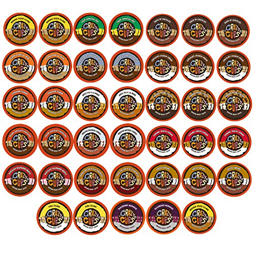 Crazy Cups Flavored Coffee Single Serve Cups for Keurig K Cups Brewer Variety Pack Sampler 40-count (Keurig Coffee Flavored compare prices)