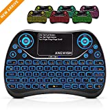 (Updated 2018, Backlit) ANEWISH 2.4GHz Mini Keyboard with...