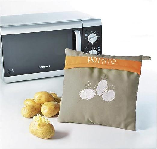 ELICUISINE 013817 Bolsa para cocinar Patatas microondas, Tela ...