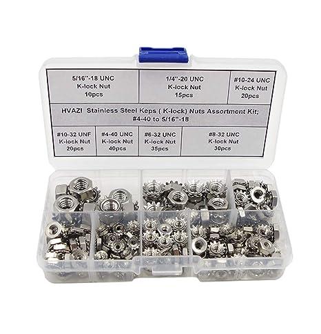 Amazon.com: HVAZI - Kit surtido de tuercas de acero ...