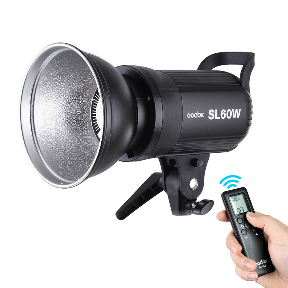 Godox SL-60W 5600K 60W High Power LED Video Light Wireless Remote Control with Bowens Mount for Photo Studio Photography Video Recording White Version Andoer