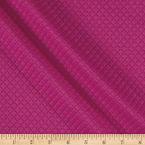 - TELIO Mini Quilted Knit Diamond Fuchsia Fabric by The Yard