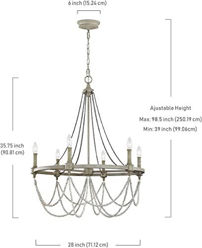Feiss F3132/6FWO/DWW Beverly Candle Chandelier Lighting