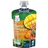 GERBER Organic PURÉE Mango Apple Carrot Kale, Baby Food, Meal, 6+ Months, 128 ml, 12 Pack
