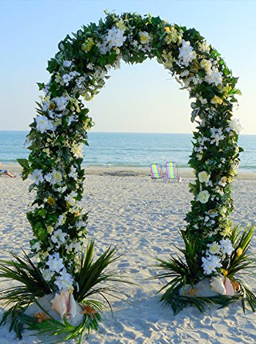 Tableclothsfactory 7.5ft Decorative Metal Wedding Arch - White - (Arch Stand)