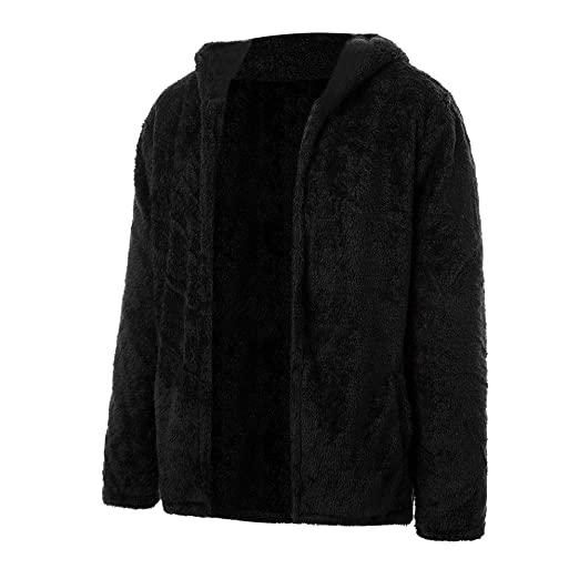 f1c64797d9 Goddessvan Mens Fuzzy Sherpa Fleece Hooded Jackets Open Front Cardigans  Hoodie Coats Jacket Overcoat at Amazon Men s Clothing store