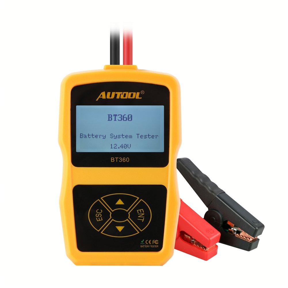 Autool BT360 Upgraded 12 V, Tester per Batteria, CCA 100 –  2400 CCA 100-2400