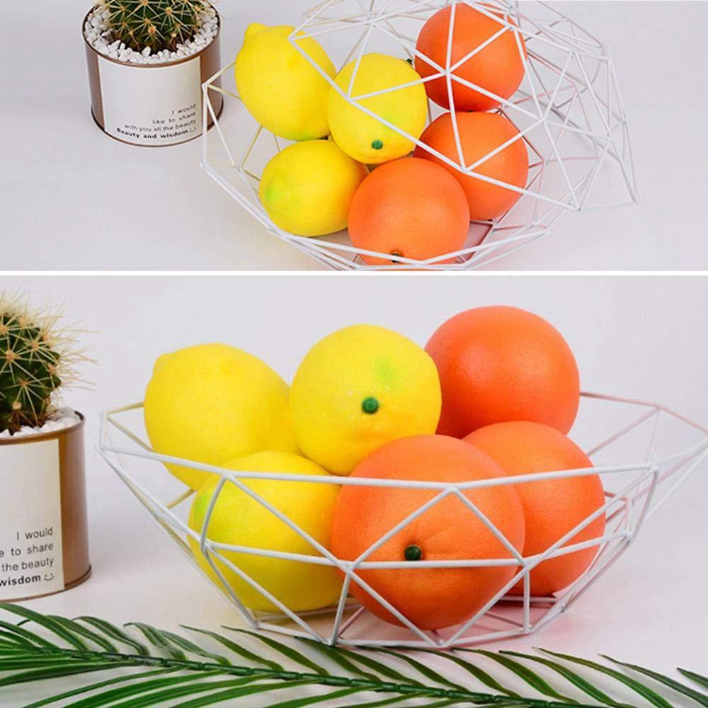 Cesta para frutas, cesta organizadora de alambre de metal de lujo para dulces, diseño de alambre de acero inoxidable con estilo moderno para cocina, ...