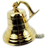 STREET CRAFT ® Vintage Maritime Brass Ship Bell wall mounted bracket Temple Bell indian