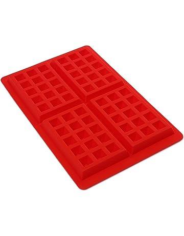 STONCEL Moldes de Silicona, moldes para Hornear antiadherentes para Bandeja de Hielo/gelatina/
