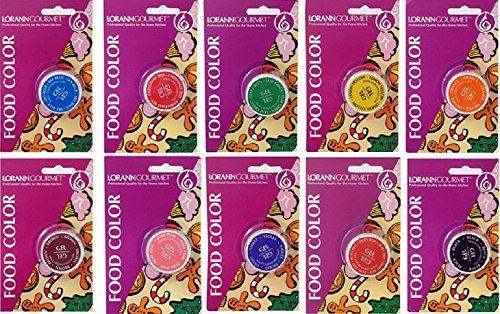 LorAnn Food Coloring Gel 1/2 Ounce You Get All 10 Colors