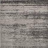 Unique Loom Del Mar Collection Contemporary Transitional Dark Gray Square Rug (8' 0 x 8' 0)