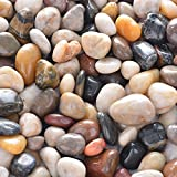 OUPENG Pebbles 2 Pounds Polished Gravel, Natural Polished Mixed Color Stones, Small Decorative River Rock Stones (32-Oz). For Sale