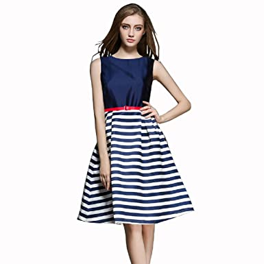 519dcd88d6 GSB Fashion Western Wear Blue Skater Dress For Women and Girls  Amazon.in   Clothing   Accessories
