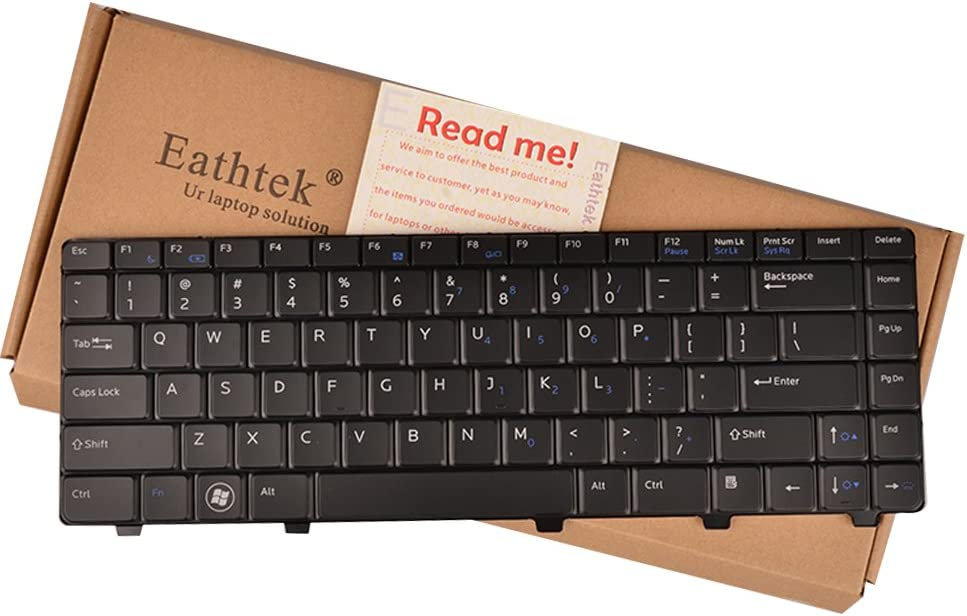 Eathtek Replacement Keyboard with Backlit for Dell Vostro 3300 3400 3500 V3300 Series Black US Layout, Compatible with Part Number 5MFJ6 05MFJ6 0TJFH0 TJFH0 NSK-DJ301