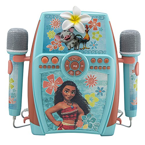 eKids Moana Digital Recording Studio with Dual Microphones - Record, Sing, and Create