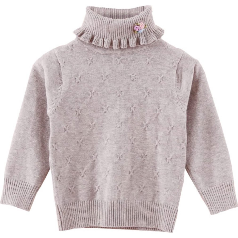 QQBBGL Girls Spring Sweaters Little Kids Pullover Sweaters Baby Children Casual Clothes (110#(height=39-43''/100-110cm), Gray)
