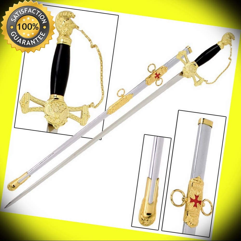 Ceremonial Decorative Knights Ornate Saber Sword perfect for cosplay outdoor camping 61AutR2BLsWLSL1000_