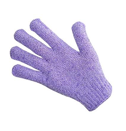 Dedo, Toalla de baño Toalla exfoliante para el cuerpo Back-1 Pair, Purple