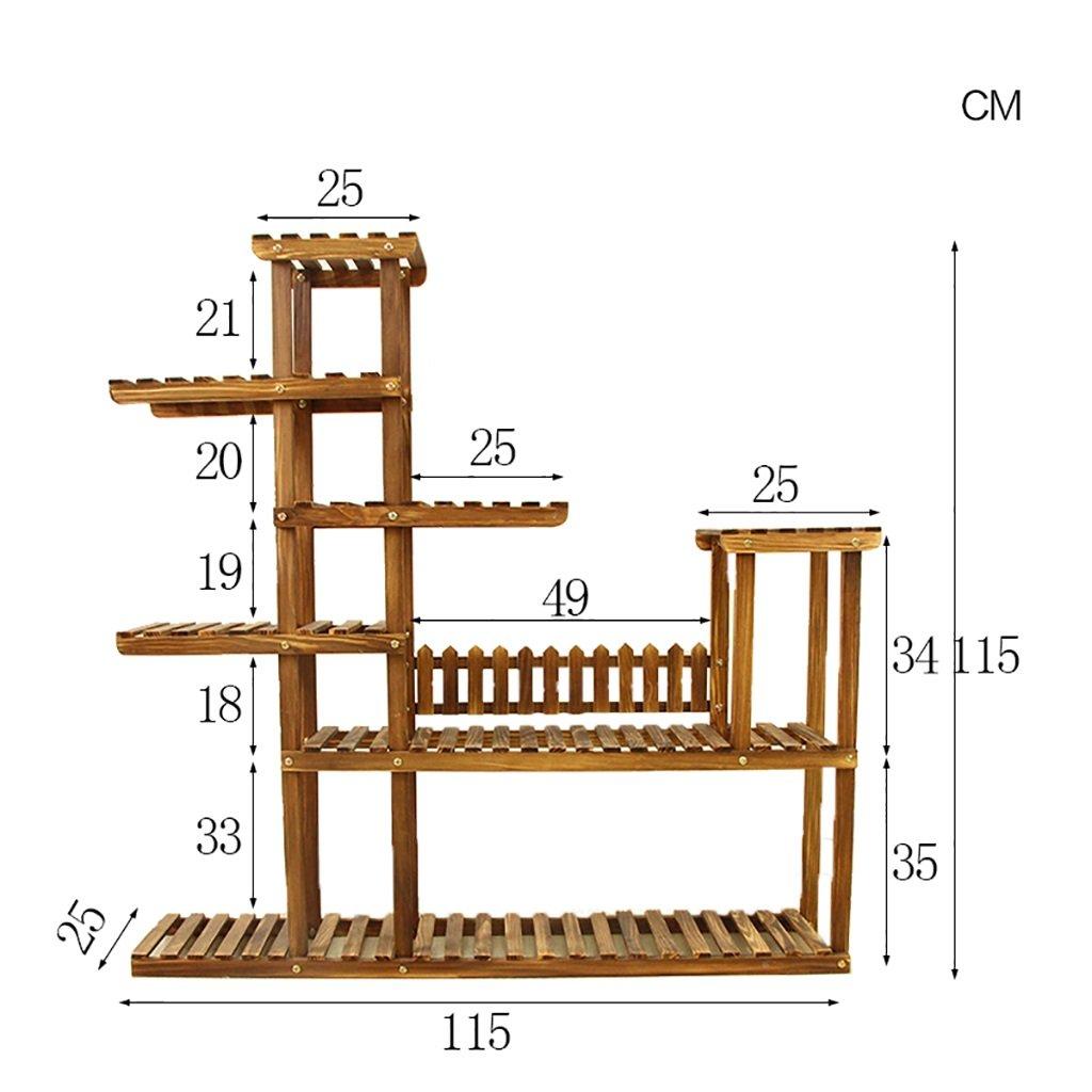 Chairs FL Cremagliera Fiore mensola di pianta Giardino multipiano in Legno massello per Interni ed Esterni in Legno Multi-Strato portavasi mensole per Piante (Dimensioni   115  25  115cm)