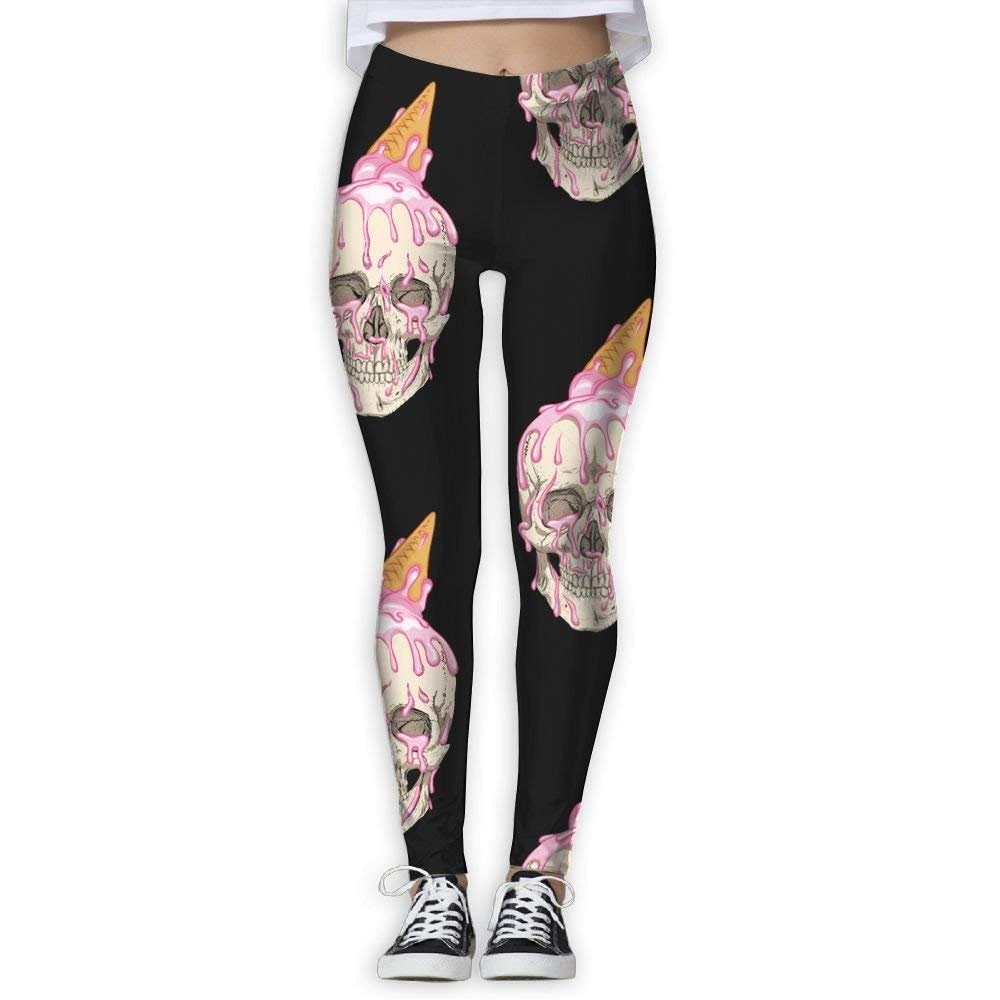 Unisex Skull Ice Cream Sunscreen Outdoor Travel Arm Warmer Long Sleeves Glove