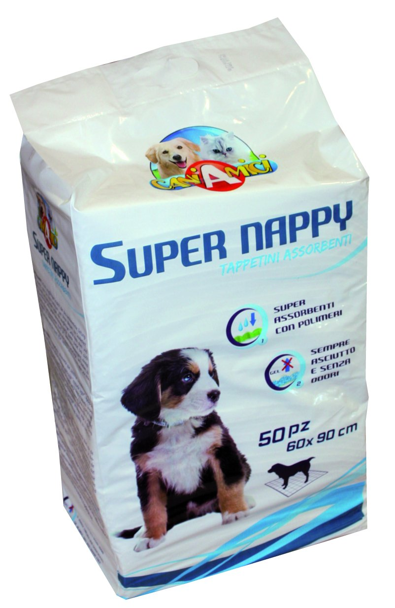 CaniAmici ZC6020953 Lot de 50 tapis absorbant Super Nappy 90 x 60 cm CROCI