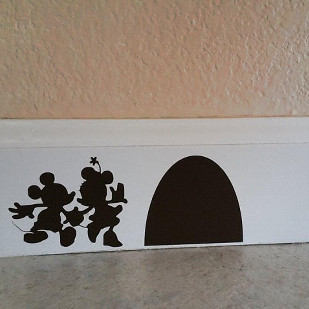 BATTOO Mouse Couple With Their Mouse House Wall Decal Mouse Hole - How to make vinyl wall decals with cricut