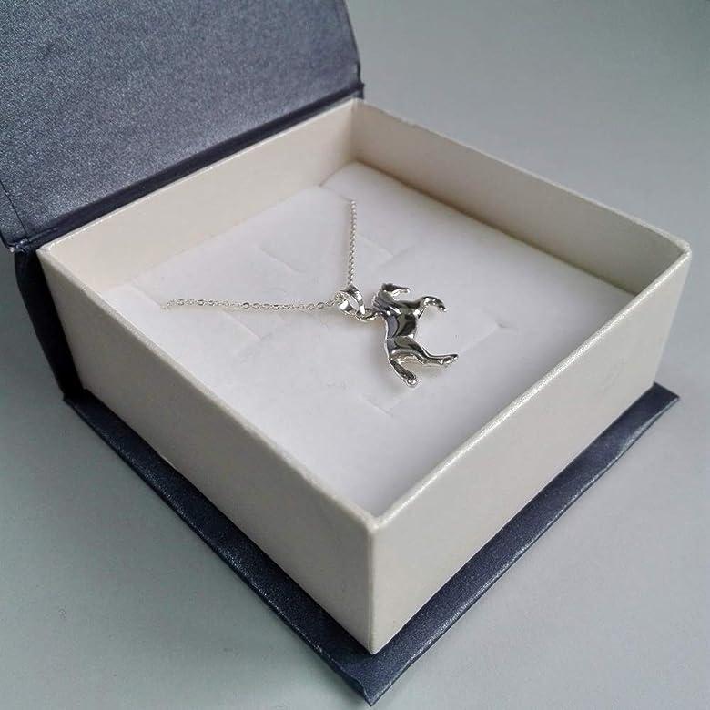 Alylosilver Collar Colgante Caballo de Plata para Mujer - Incluye Cadena de Plata de 45 cm y Estuche para Regalo: Amazon.es: Joyería