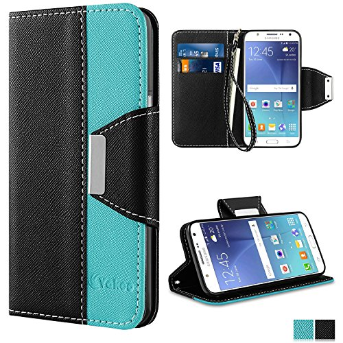 Galaxy J5 2016 Case - Vakoo [Book Style] Premium-PU Leather Wallet Folio Mobile Phone Protector Cover Flip Case