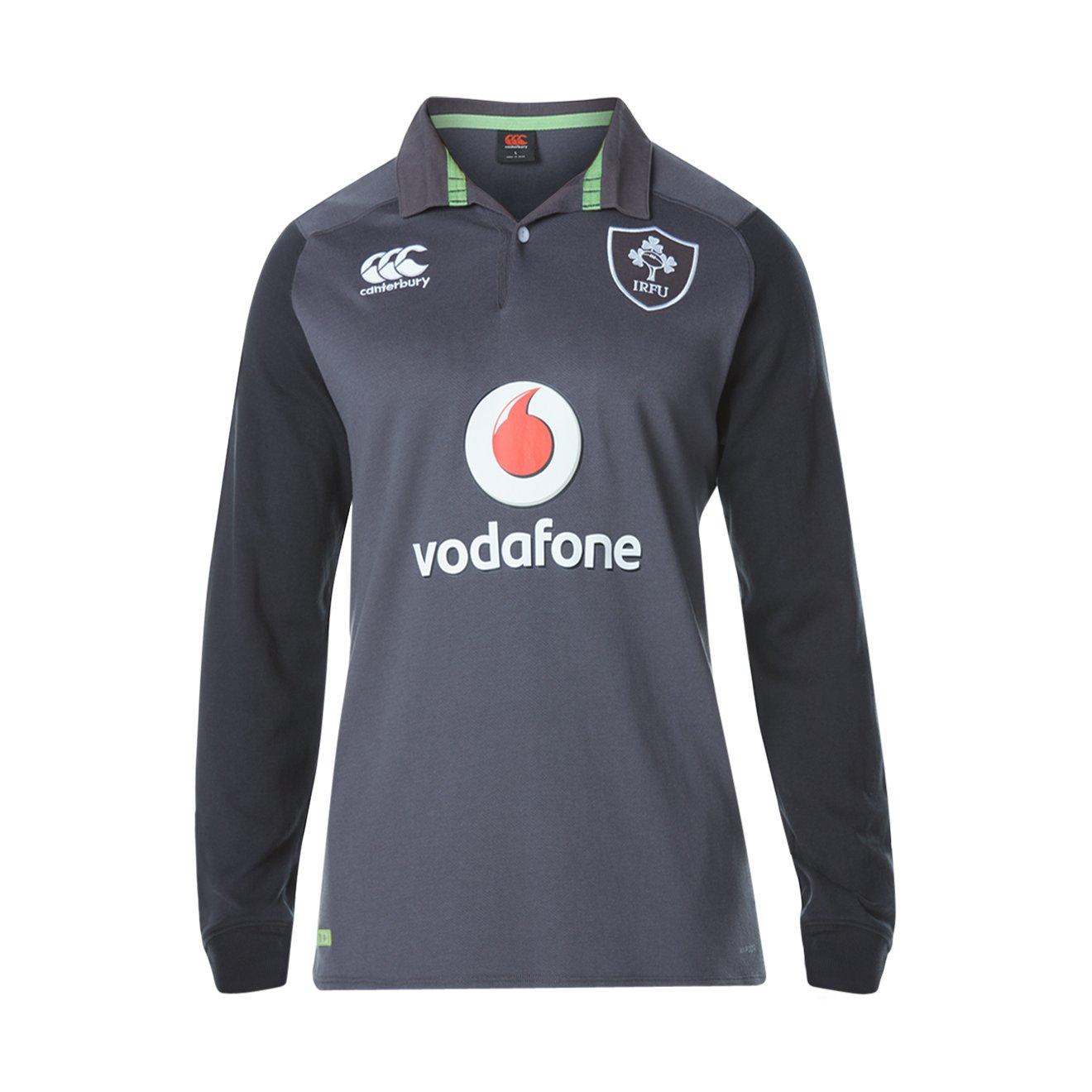 Canterbury Irlanda ufficiale 17/18, maglia da rugby a maniche lunghe away Classic