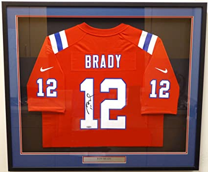 8488a3d982c New England Patriots Tom Brady Autographed Framed Red Nike Jersey TriStar  Holo