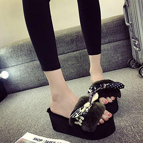 LaxBa Femmes Hommes Chaussures Slipper antiglisse intérieur le vert 36