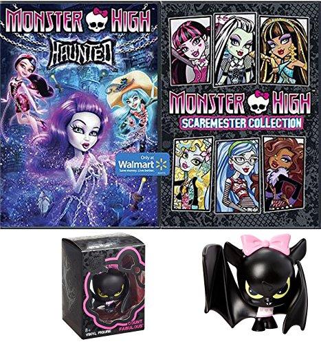 Monster High Fun Movie Cartoon Bundle Monster High Sir Hootz A Lot Vinyl Figure Fun set Scaremester High DVD + Haunted Cartoons pack