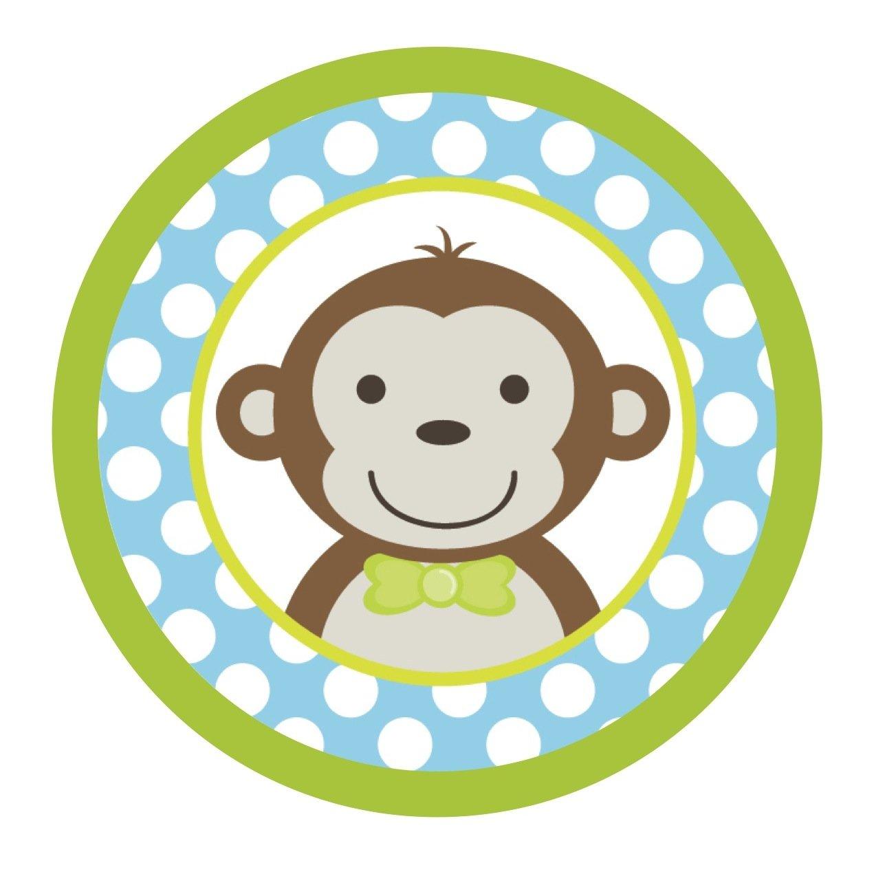 Amazon Mod Monkey Boy Blue Green Edible Cake Topper