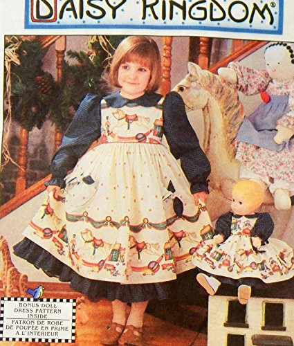 - Simplicity 7393 or 0693 Daisy Kingdom Little Girls Pinafore and Dress Sewing Pattern Size 5-6-7-8 AND 17