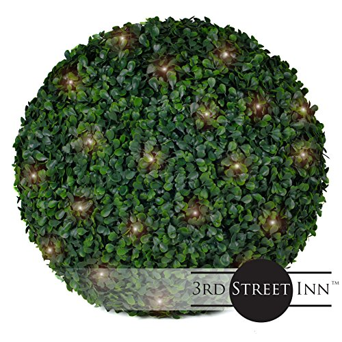 Outdoor Lighted Boxwood Topiary