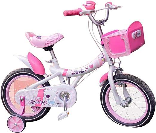 YUMEIGE Bicicletas Bicicletas para niños, con Cesta de música y carros de Espejo Bicicleta para niños 12 14 16 Pulgadas Adecuado para niños de 2 a 8 años de Regalo Disponible (Size : 12in): Amazon.es: Jardín