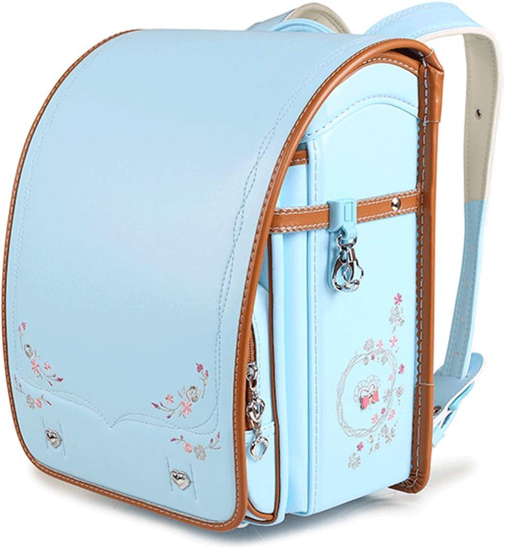 Schoolbag Japanese Backpacks Randoseru School Bag For Girls Purple Waterproof