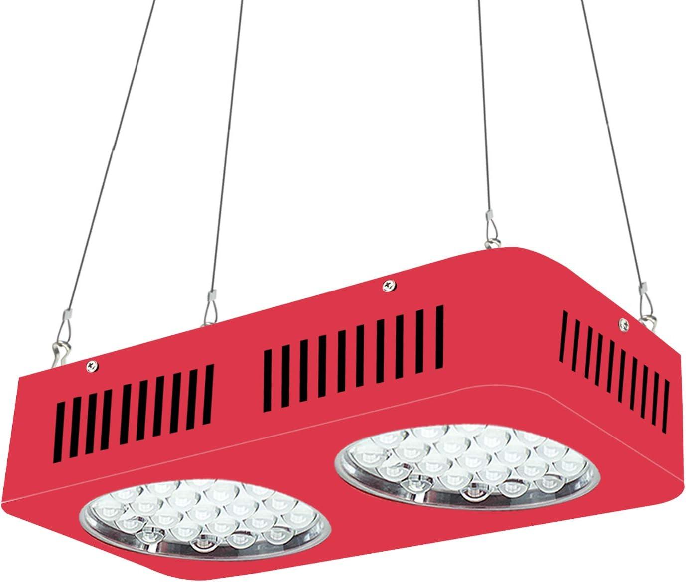 WYZM Lámpara de Planta LED, lámpara de Cultivo ZNTE2, Equivalente a 500 W HPS, Espectro Completo Profesional, diseño Especial para Sistemas de Cultivo de Interior. (ZNET2-500W)