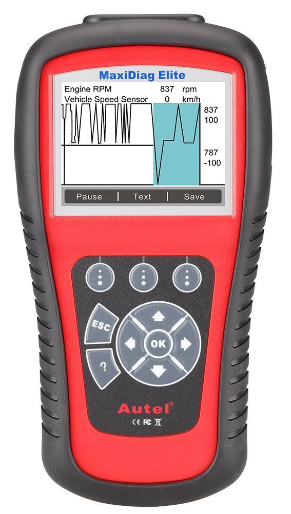 Autel Full System Scanner MD802 Maxidiag Elite OBD2 Diagnoses for ABS, SRS, Engine, Transmission,EPB, Oil Reset