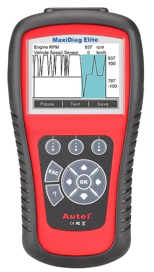 Autel Full System Scanner MD802 Maxidiag Elite OBD2 Diagnoses for ABS, SRS,  Engine, Transmission,EPB, Oil Reset