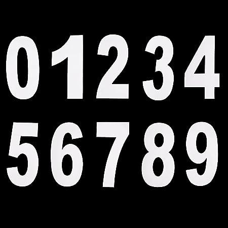 4 Auto-adhésif coller sur blanc Wheelie Bin Numéro Autocollant No.9 Poubelle Poubelle