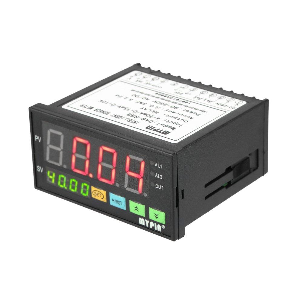 KKmoon Medidor Multifuncional Sensor Digital Inteligente con Pantalla LED Salida de Relé de Alarma 0-75mV/4-20mA/0-10V 2 mypin