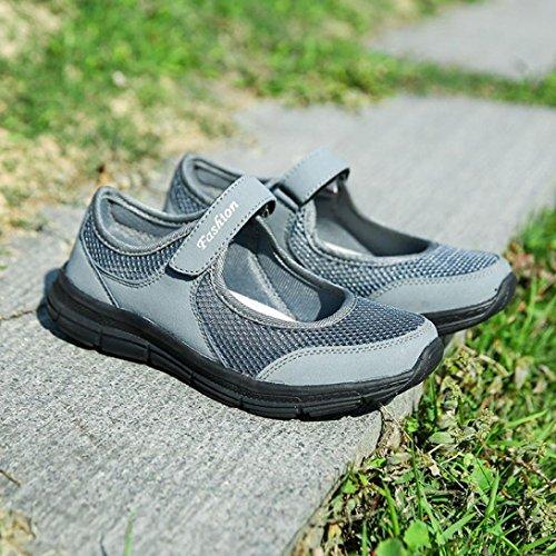 Fitness Women IEason Shoes Gray Anti Running Sports Summer Dark Fashion Sandals Slip Shoes shoes nUqraEw1q8